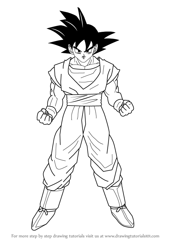 Learn how to draw goku from dragon ball z doraemon step by step drawing tutorials