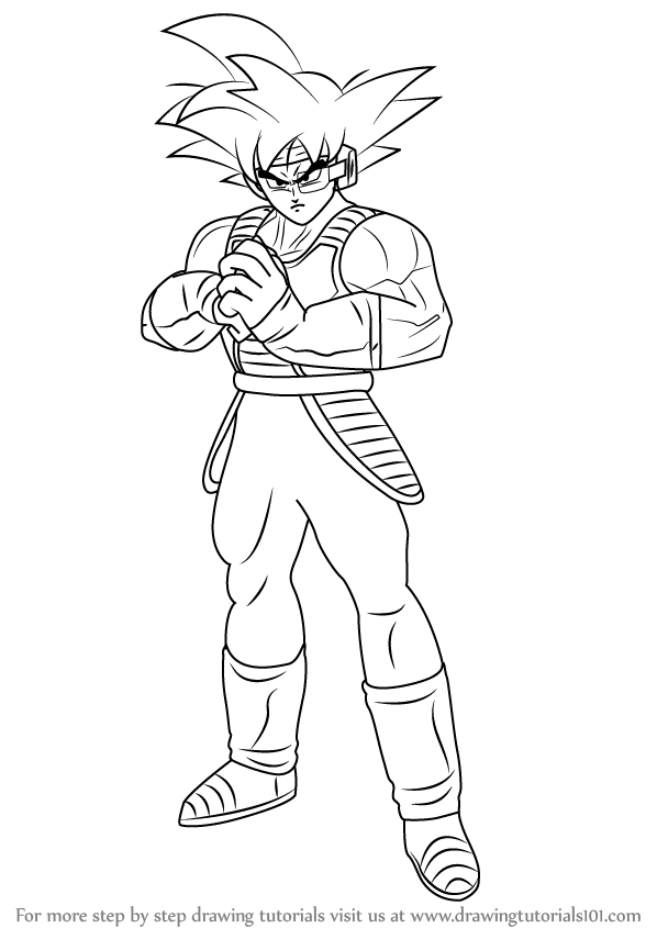 learn how to draw bardock full body from dragon ball z dragon ball z step by step drawing tutorials