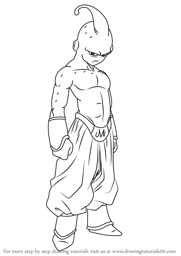 Learn How To Draw Buu From Dragon Ball Z Dragon Ball Z Step By