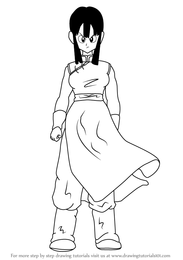 Learn How To Draw Chi Chi From Dragon Ball Z Dragon Ball Z Step By