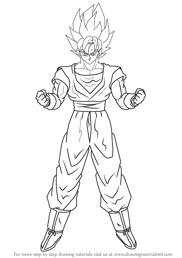 Learn How To Draw Goku Super Saiyan From Dragon Ball Z Dragon Ball