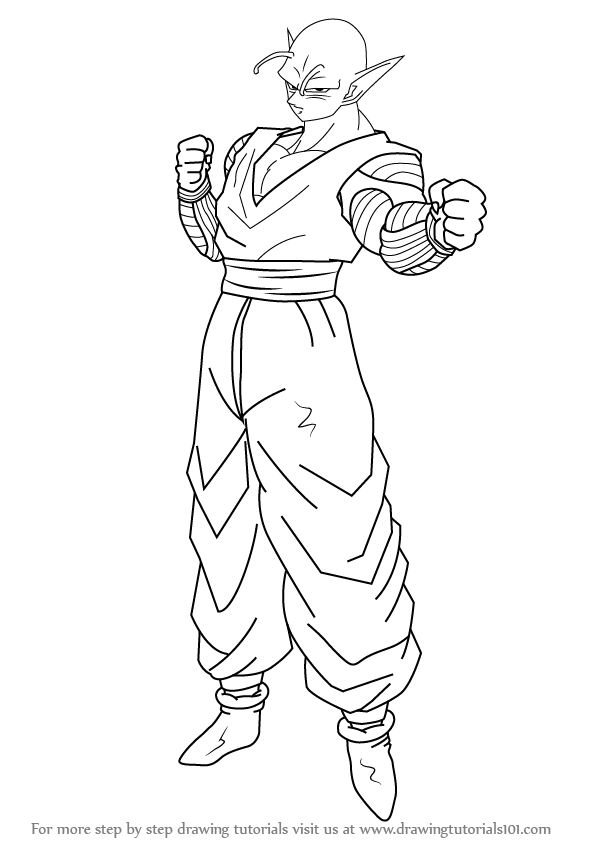 learn how to draw piccolo from dragon ball z dragon ball z step by step drawing tutorials