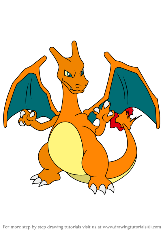 Learn How To Draw Charizard From Pokemon Pokemon Step By Step Drawing Tutorials