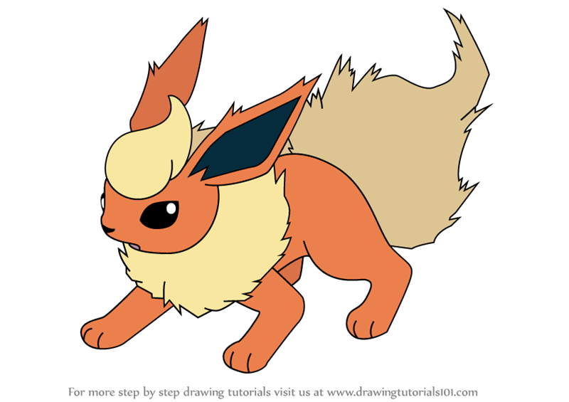 Good Fresh Flareon Coloring Pages 72 In Free Coloring Kids With Flareon