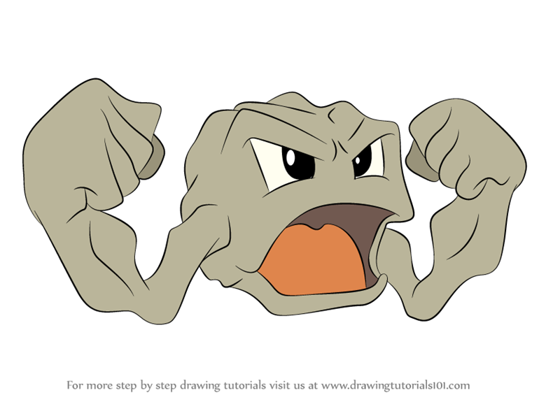 Learn how to draw geodude from pokemon pokemon step by step drawing tutorials