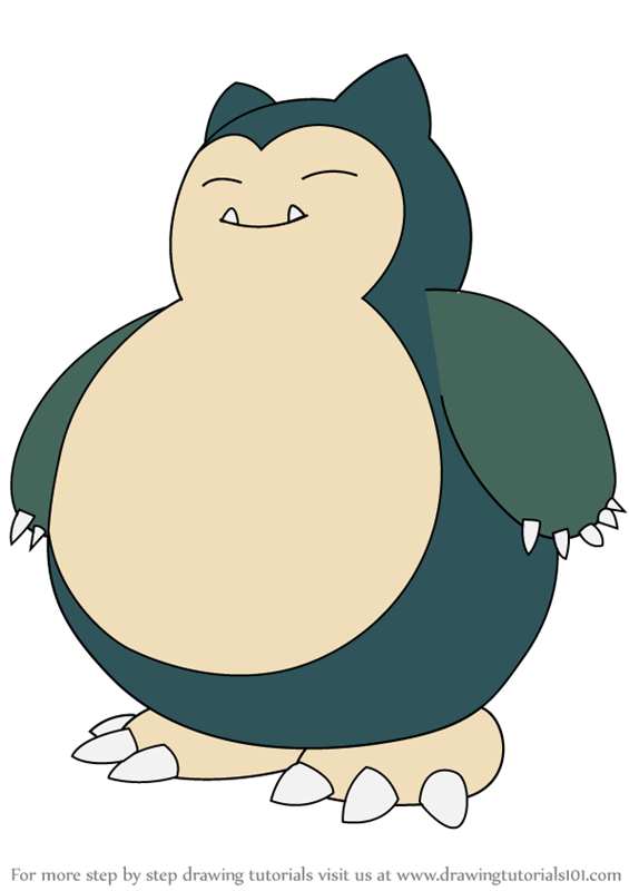 Learn How To Draw Snorlax From Pokemon Step By Drawing Tutorials