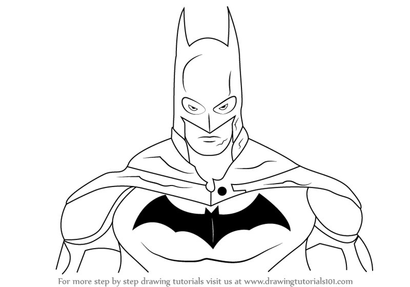Learn How to Draw Batman Face (Batman) Step by Step : Drawing ...