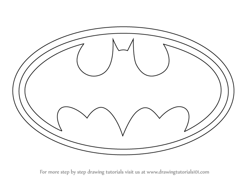 Step By Step How To Draw Batman Logo Drawingtutorials101