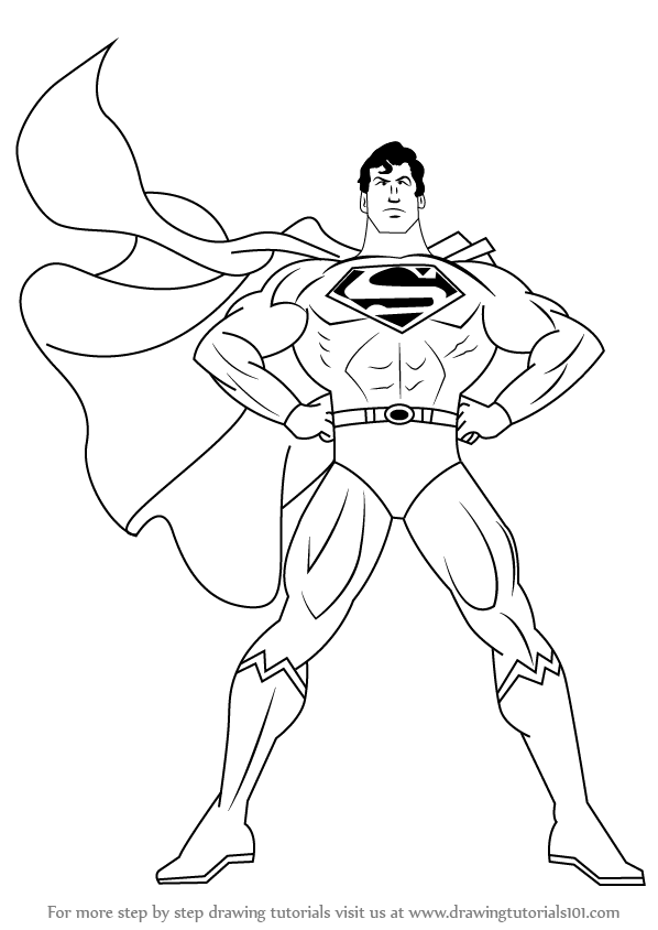 Learn How To Draw Superman Superman Step By Step Drawing Tutorials