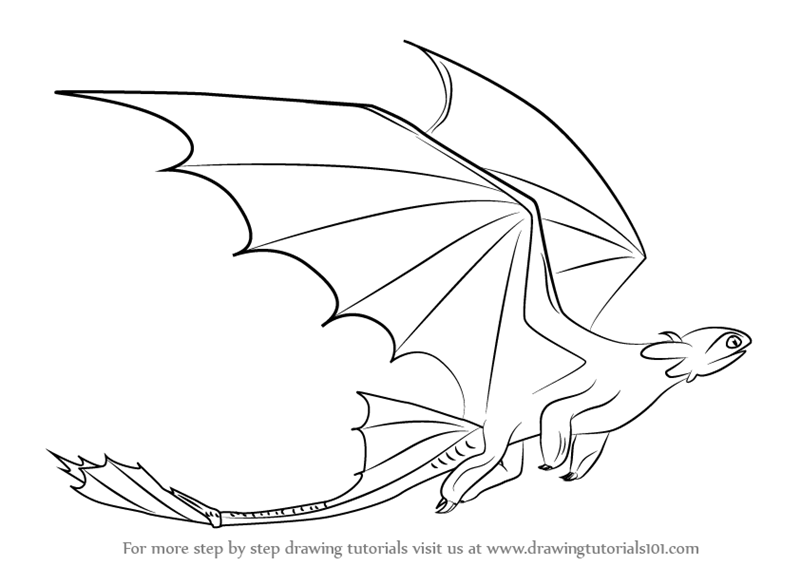 learn how to draw toothless flying from how to train your dragon how to train your dragon step by step drawing tutorials
