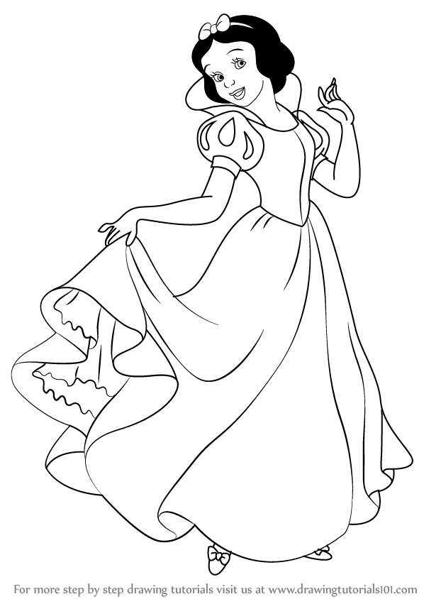 Learn How To Draw Snow White Princess From Snow White And The