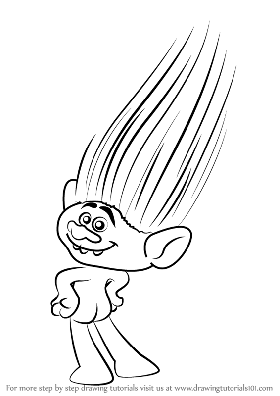 Learn how to draw guy diamond from trolls trolls step by step learn how to draw guy diamond from trolls trolls step by step drawing tutorials ccuart Gallery