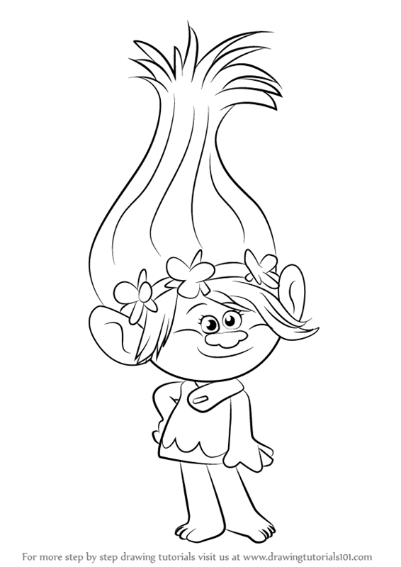 Learn how to draw princess poppy from trolls trolls step by step learn how to draw princess poppy from trolls trolls step by step drawing tutorials ccuart Gallery