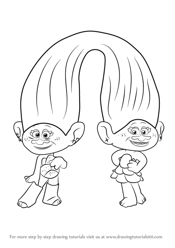 Learn how to draw satin and chenille from trolls trolls step by learn how to draw satin and chenille from trolls trolls step by step drawing tutorials ccuart Gallery