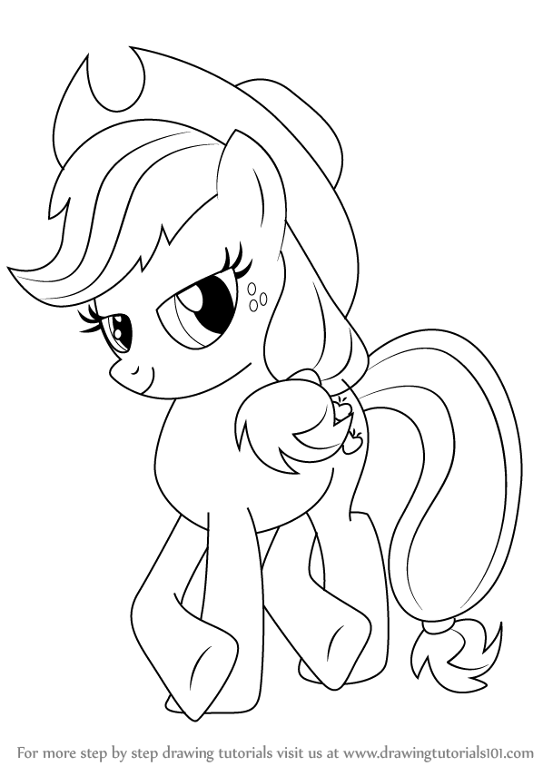 Learn How To Draw Applejack From My Little Pony Friendship Is Magic