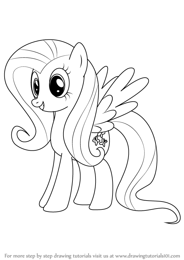 learn how to draw fluttershy from my little pony friendship is