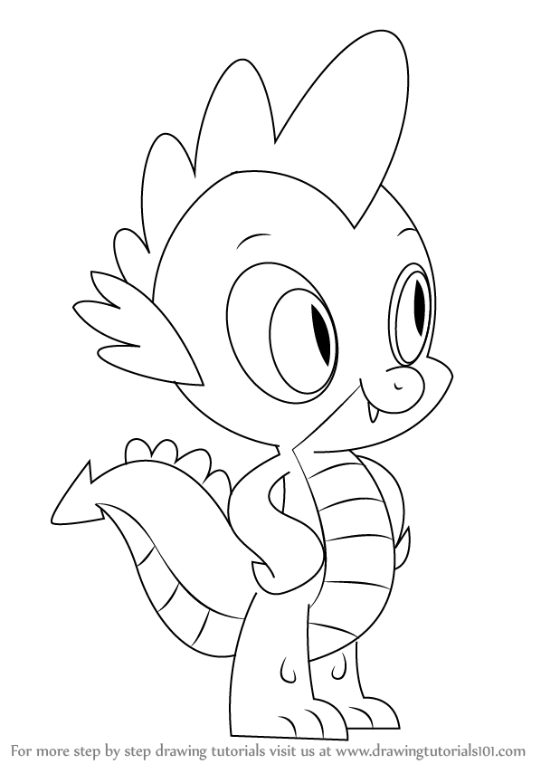 Learn How To Draw Spike From My Little Pony Friendship Is Magic Step By Drawing Tutorials