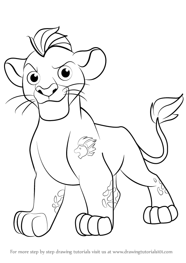 Learn how to draw kion from the lion guard the lion guard step by step drawing tutorials