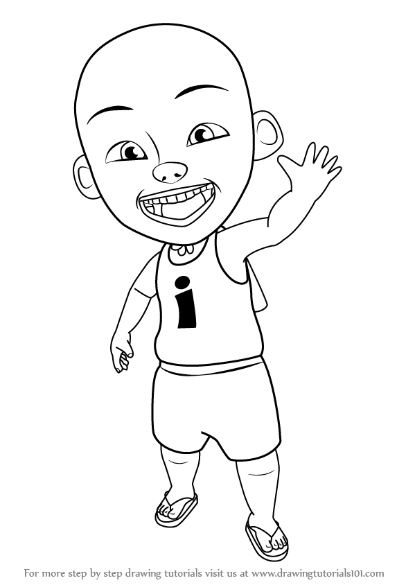 Learn How To Draw Ipin From Upin Step By Drawing Tutorials