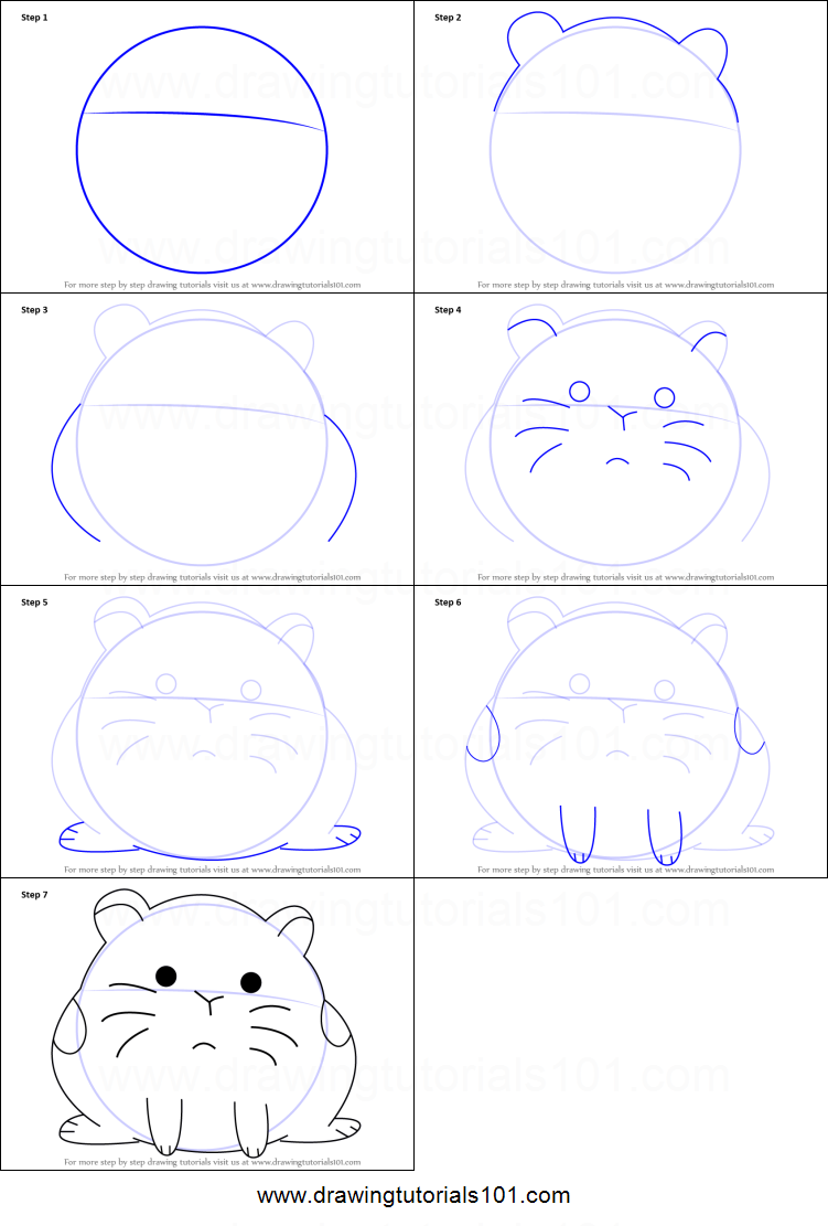 How to draw a hamster: a step-by-step guide for beginners 35