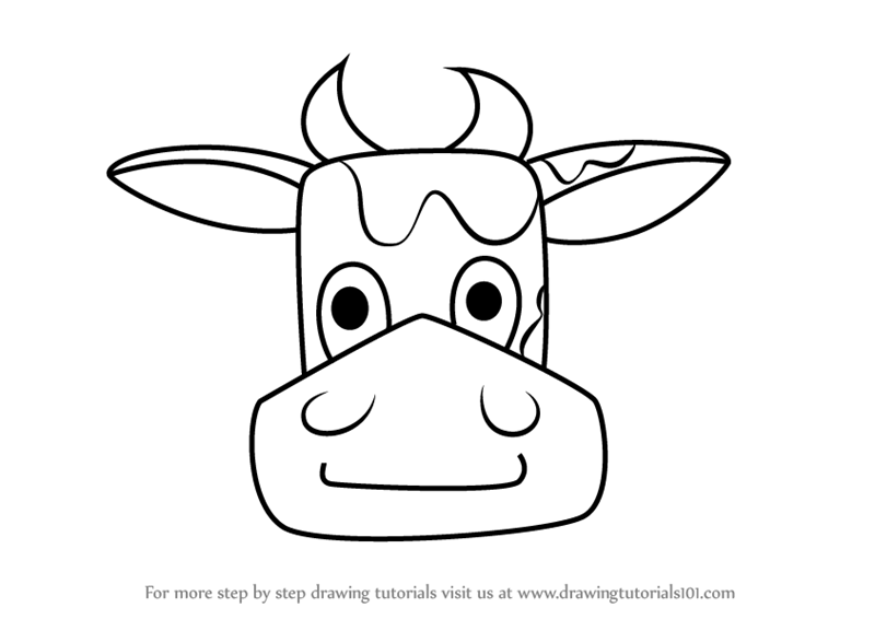 Learn How to Draw a Cow Face for Kids (Animal Faces for Kids