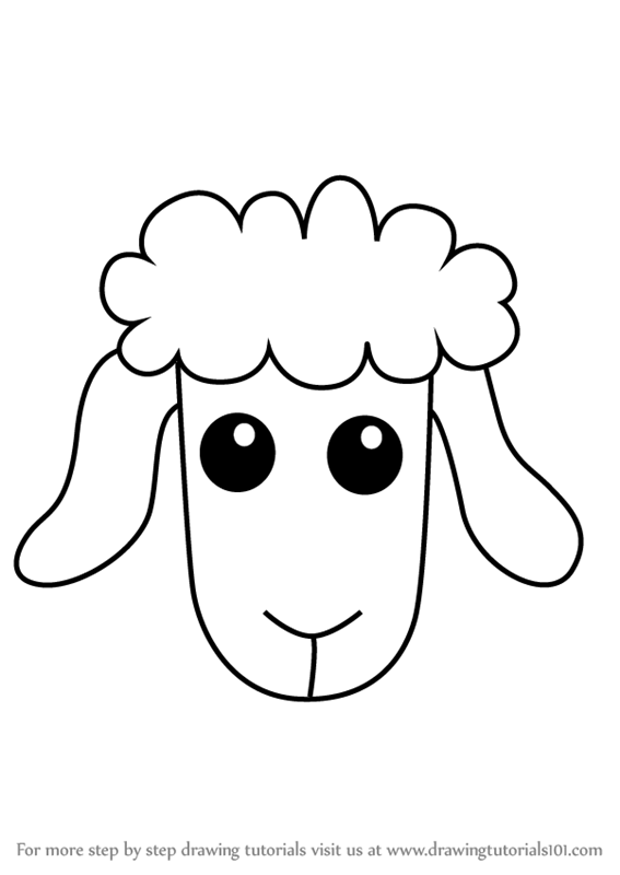 Learn How to Draw a Sheep Face for Kids (Animal Faces for