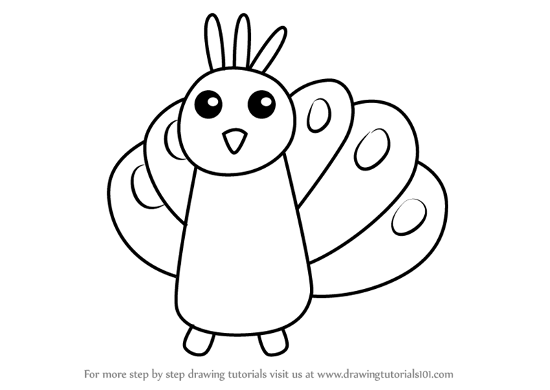Learn How To Draw A Peacock For Kids Very Easy Animals For Kids