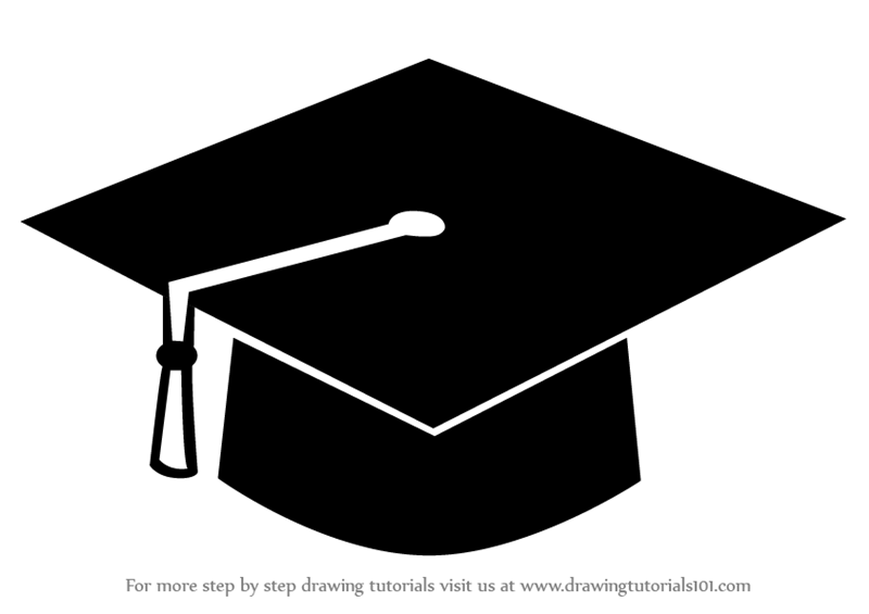 learn how to draw a graduation cap hats step by step drawing