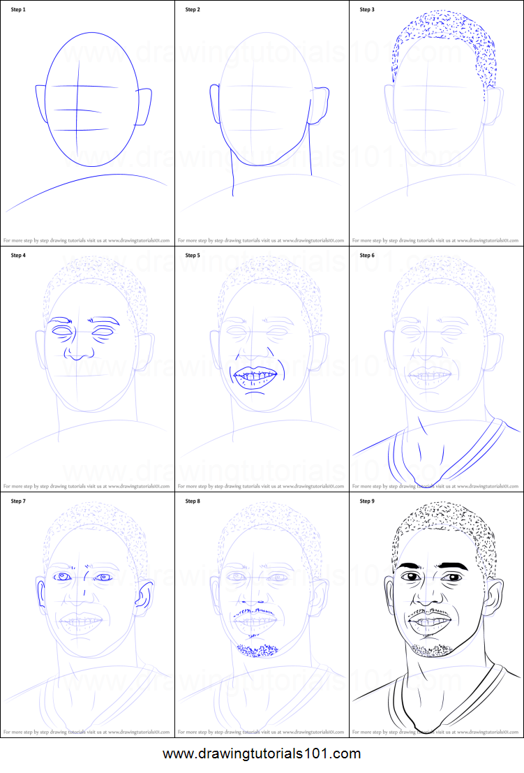 How To Draw Chris Paul Printable Step By Step Drawing Sheet Drawingtutorials101 Com