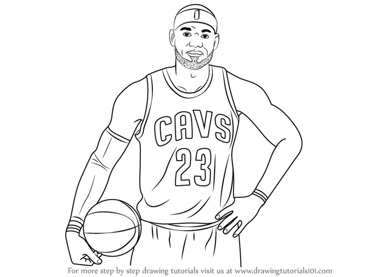 Learn How To Draw Lebron James Celebrities Step By Step Drawing
