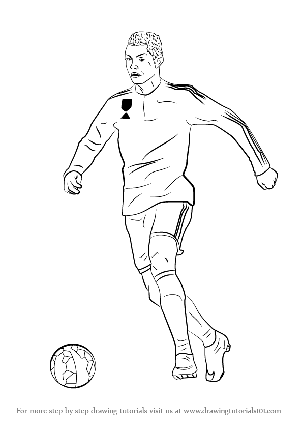 Learn How To Draw Cristiano Ronaldo Footballers Step By Step