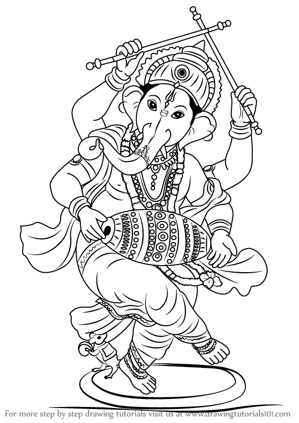 Images Of Ganesh For Drawing