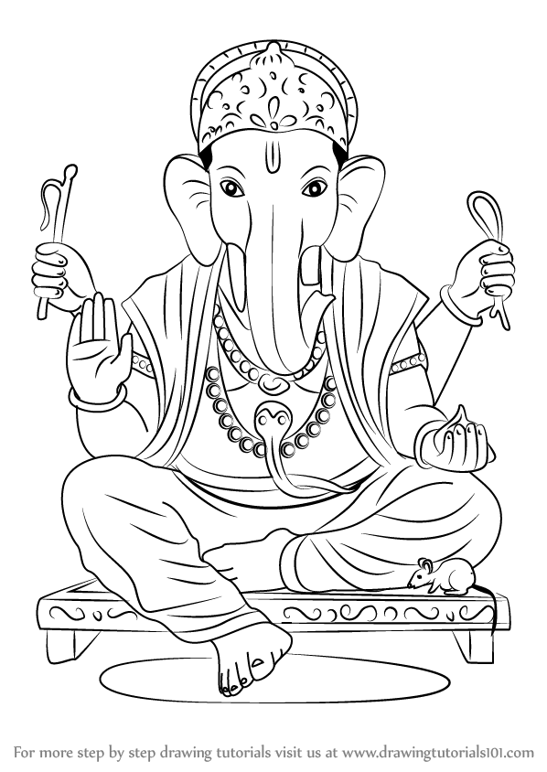 Learn How To Draw Ganpati Bappa Hinduism Step By Step Drawing Tutorials