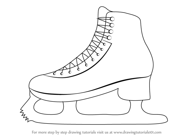 Learn How To Draw Ice Skates Other Sports Step By Step Drawing