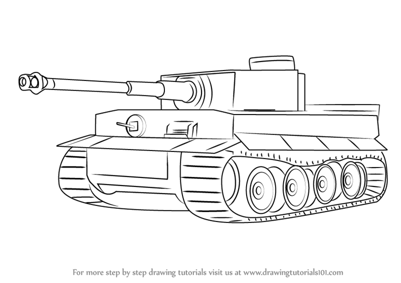 learn how to draw a tiger tank military step by step drawing tutorials