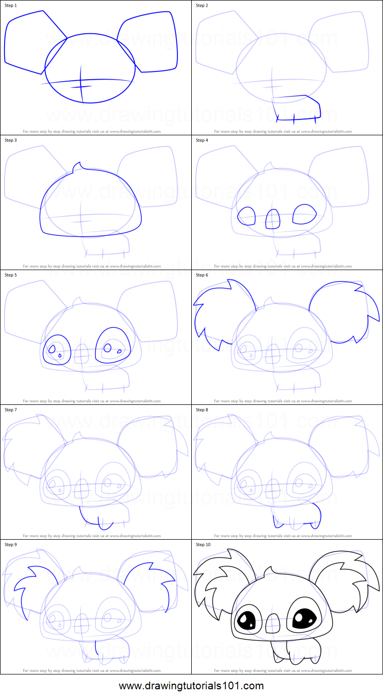 How To Draw Pet Koala From Animal Jam Printable Step By Step Drawing Sheet Drawingtutorials101 Com