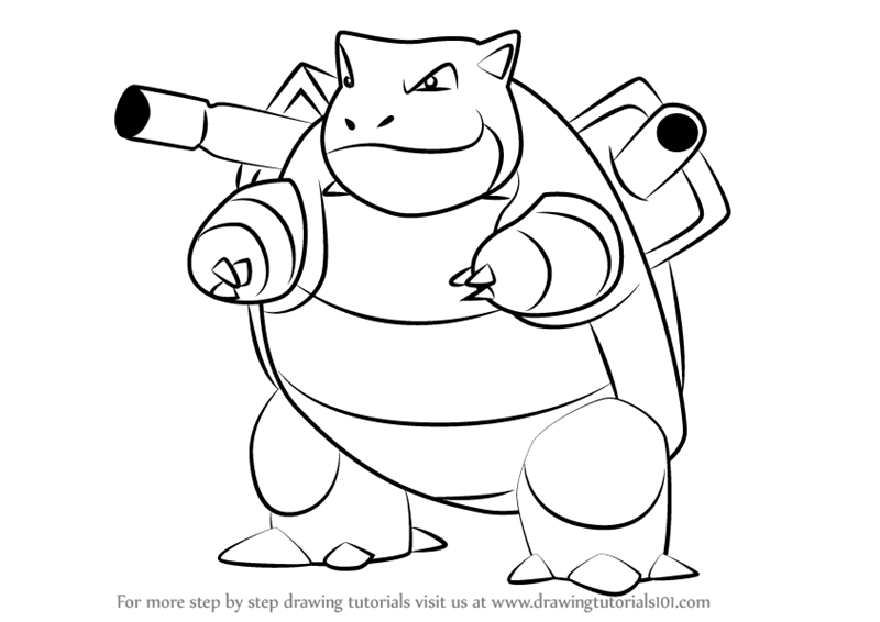 learn how to draw blastoise from pokemon go pokemon go step by step drawing tutorials