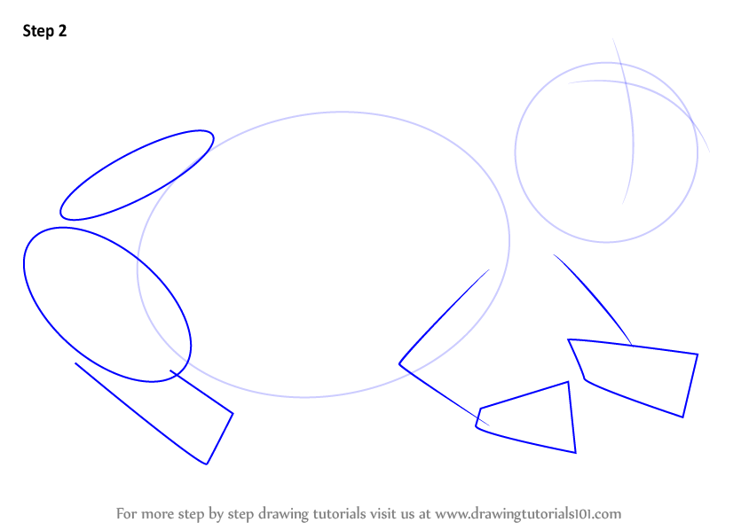 how to draw toad step by step