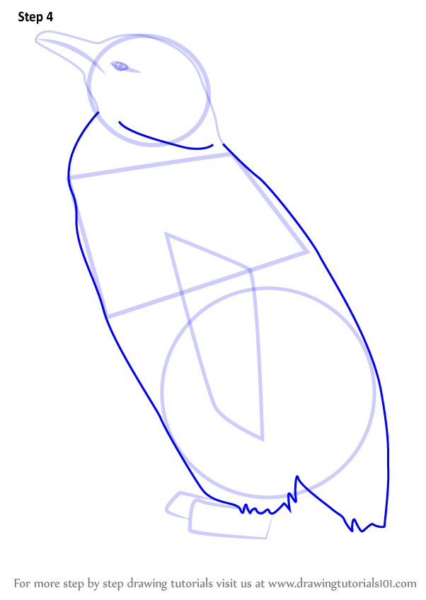 Step By Step How To Draw A Cute Penguin