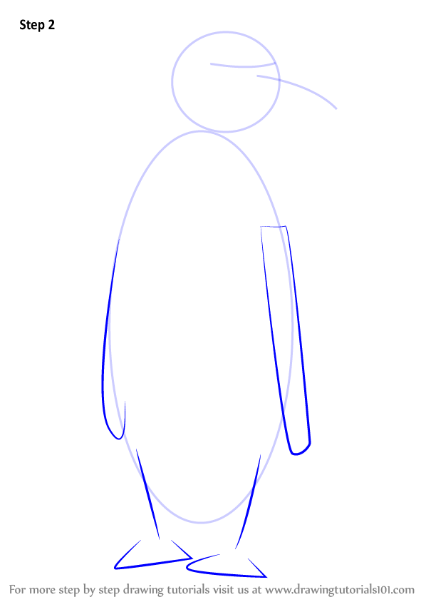 how to draw a emperor penguin