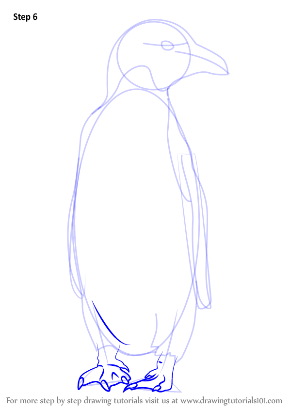 Learn How to Draw a Macaroni Penguin