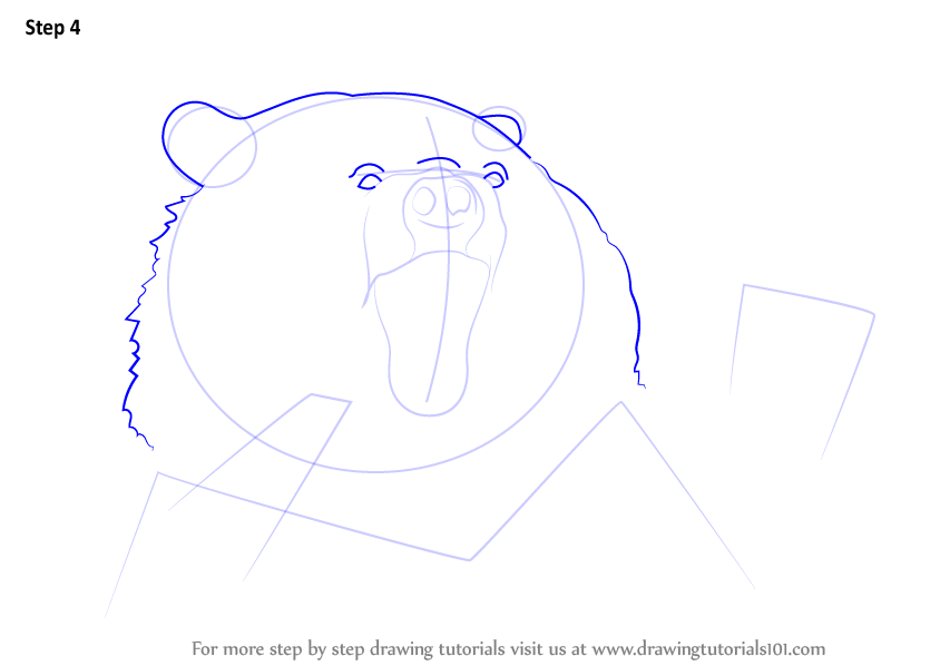 Grizzly Bear Drawing In Color Learn How to Draw an A...
