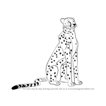 How to Draw a Cheetah Sitting