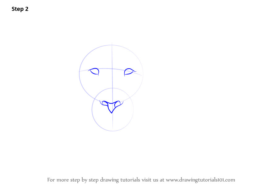 Learn How To Draw A Lion S Face Big Cats Step By Step