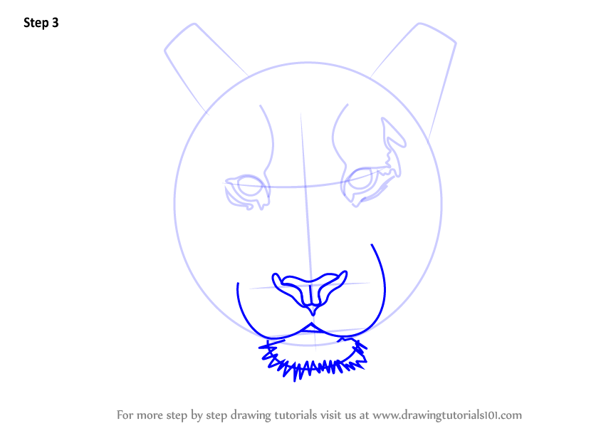 How to draw a tiger face step 1 step 2 step 3