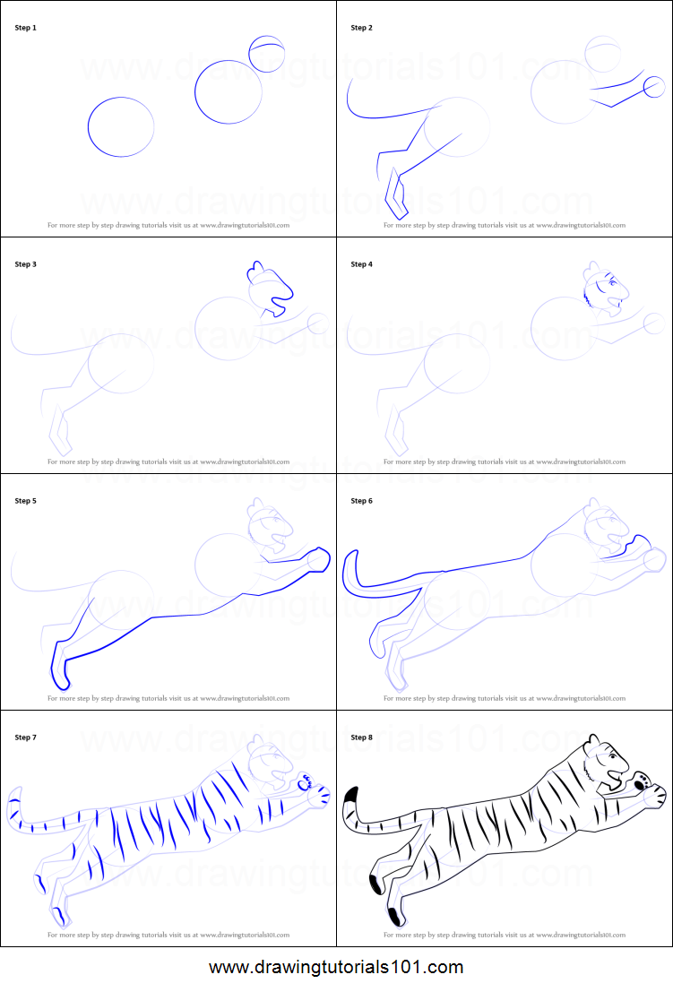 Uncategorized How To Draw A Tiger Step By Step how to draw a tiger for kids printable step by drawing sheet drawingtutorials101 com