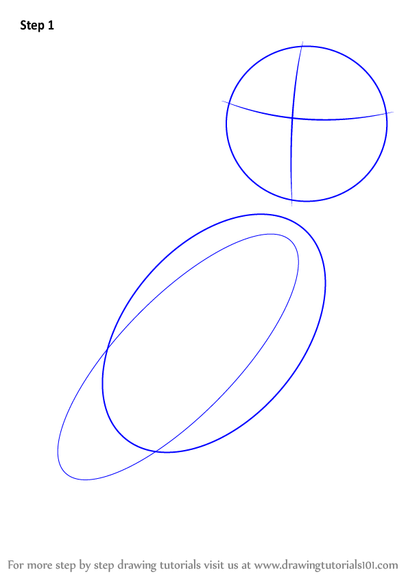 How To Draw A Barn Owl Step 1 Make Two Large Ovals Intertwined With Each Other And Medium Circle For The Face