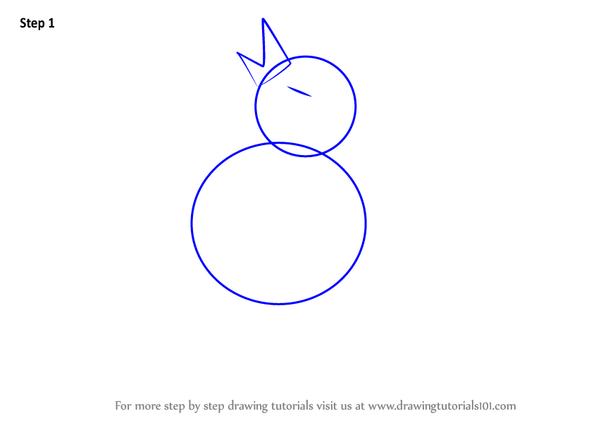 Learn How To Draw A Bird Sitting On A Branch (Birds) Step