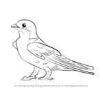 How to Draw a Common House Martin