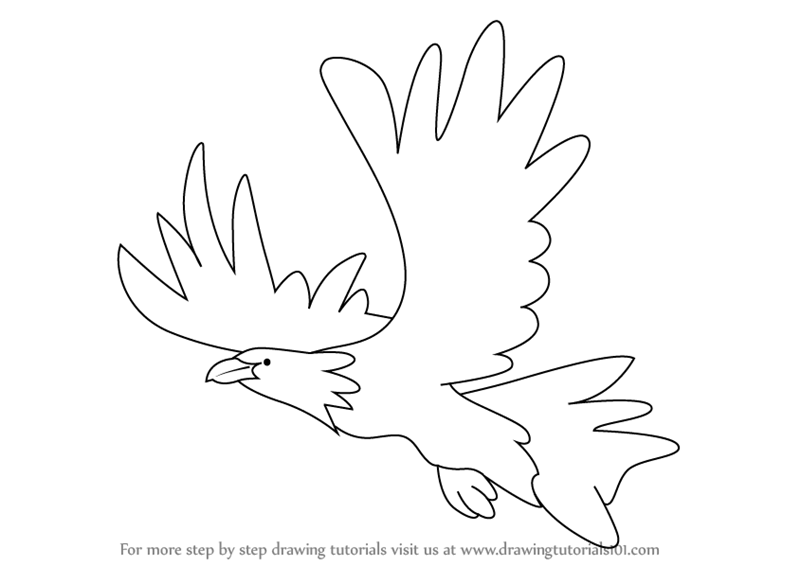 Learn How To Draw An Eagle For Kids (Birds) Step By Step : Drawing Tutorials